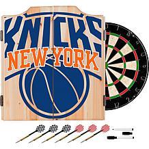 Officially Licensed NBA Dart Cabinet Set- Fade- New York Knicks