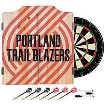 Officially Licensed NBA Dart Cabinet Set - Fade- Portland Trailblazers