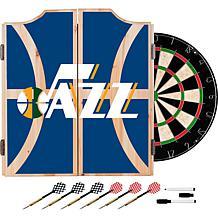 Officially Licensed NBA Dart Cabinet Set - Fade - Utah Jazz