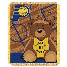 """Officially Licensed NBA Pacers """"Half-Court"""" Baby Woven Jacquard Throw"""