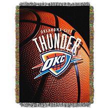 """Officially Licensed NBA """"Photo Real"""" Woven Tapestry Throw - Thunder"""