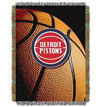 """Officially Licensed NBA """"Photo Real"""" Woven Tapestry Throw - Pistons"""