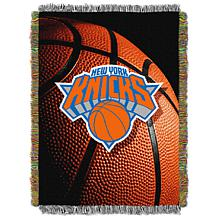 """Officially Licensed NBA """"Photo Real"""" Woven Tapestry Throw - Knicks"""