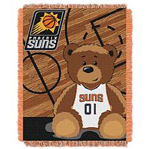 """Officially Licensed NBA Suns """"Half-Court"""" Baby Woven Jacquard Throw"""