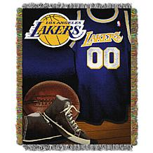 """Officially Licensed NBA """"Vintage"""" Woven Tapestry Throw - Lakers"""