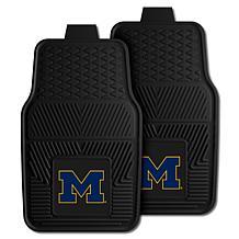 Officially Licensed NCAA  2pc Vinyl Car Mat Set - Un. of Michigan