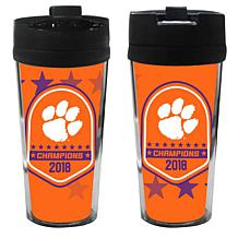 Officially Licensed NCAA Clemson 2018 Champs 16 oz. Travel Tumbler-2pk
