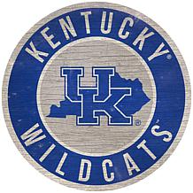 """Officially Licensed NCAA Kentucky 12"""" Wood Circle"""