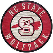 "Officially Licensed NCAA NC State 12"" Wood Circle"