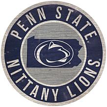 """Officially Licensed NCAA Penn State 12"""" Wood Circle"""