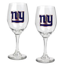Officially Licensed NFL 2-piece Wine Glass Set - Giants