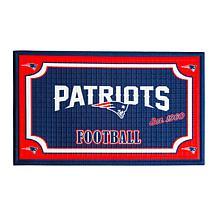 Officially Licensed NFL Embossed Door Mat - Patriots