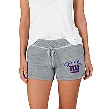 Officially Licensed NFL Mainstream Ladies Knit Shorts - Giants