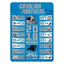 Officially Licensed NFL Schedule Fleece Throw by Northwest Company
