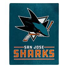 Officially Licensed NHL 0704 Interference Raschel Blanket - Sharks