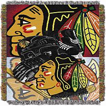 Officially Licensed NHL Blackhawks Home Ice Advantage Tapestry Throw