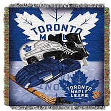 Officially Licensed NHL Home Ice Advantage Woven Throw - Maple Leafs