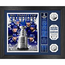 Officially Licensed NHL Tampa 2021 Stanley Cup Banner Coin Photo Mint