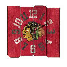 Officially Licensed NHL Vintage Square Clock