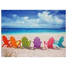 Oriental Furniture Beach Chairs Canvas Wall Art