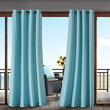 Pacifica Solid Scotchgard Single Outdoor Window Panel