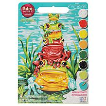 "Paint Works Paint By Number Kit 9"" x 12"" - Frog Pileup"