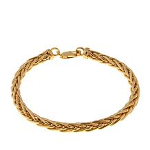 "Passport to Gold 14K Round Wheat Chain 7-1/2"" Bracelet"