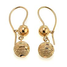 Passport to Gold 14K Yellow Gold Diamond-Cut Ball Drop Earrings
