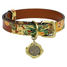 Patricia Nash Adjustable Leather Pet Collar - Small