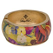 Patricia Nash Florian Leather Inset Hinged Bangle Bracelet