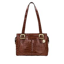 Patricia Nash Hemsley Croco-Embossed Leather Satchel