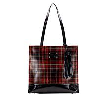 Patricia Nash Toscano Foiled Tartan Leather Tote