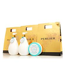 Perlier White Almond 3-piece Bath and Body Set with Bags