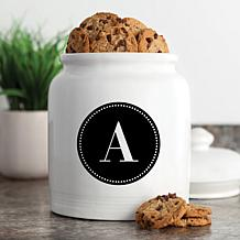 Personalized Circle Initial Cookie Jar