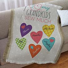 personalized throws hsn