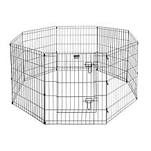 """Pet Trex 30"""" Black Playpen with Gate for Pets"""