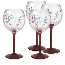 Pfaltzgraff Winterberry Set of 4 Wine Glasses