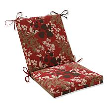 Pillow Perfect Reversible Squared Corners Chair Cushion