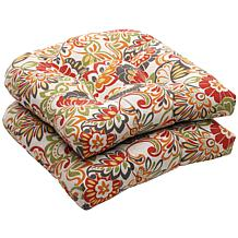 Pillow Perfect Set of 2 Wicker Seat Cushions