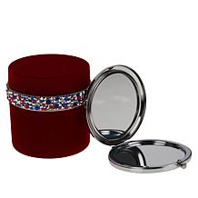 PRAI Ageless Throat & Decolletage Creme in Red Velvet Jar with Compact