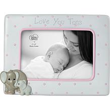 """Precious Moments Elephant """"Love at first Sight"""" Sonogram Photo Frame"""