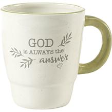 Precious Moments God Is Always The Answer Ceramic Mug