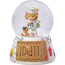 "Precious Moments ""I Did It"" Graduation Girl Musical Snow Globe"