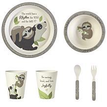 Precious Moments Precious Earth Bear & Sloth Bamboo Mealtime Set