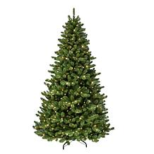 Puleo International 7.5' Pre-lit Vancouver Spruce Christmas Tree