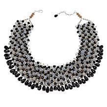 "Rara Avis by Iris Apfel 20"" Black and White Beaded Collar Necklace"