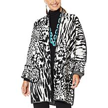 Rara Avis by Iris Apfel Coatigan with Pockets