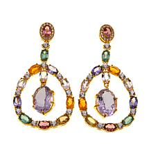 Rarities 22.16ctw Amethyst and Gem Drop Earrings