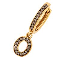 Rarities Gold-Plated Champagne Diamond Single Initial Earring
