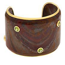 Rarities Red Jasper and Peridot Cuff Bracelet